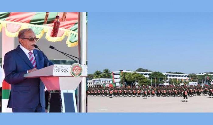 স্বাধীনতা সার্বভৌমত্ব রক্ষায় সজাগ থাকতে সেনা কর্মকর্তাদের প্রতি রাষ্ট্রপতির আহ্বান